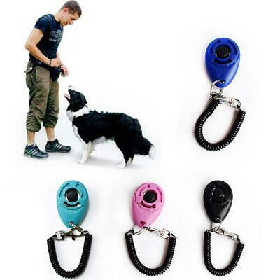 Dog Training Click Whistle Clicker Pet Guide Obedience Pet Trainer Click Fa O3B9