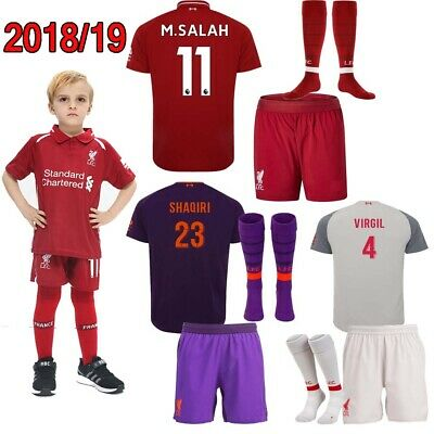 961fb85c0 NEW Grey Third Kit Youth Soccer Jersey Set Kids Football Club Outfits 3 -14VIRGIL