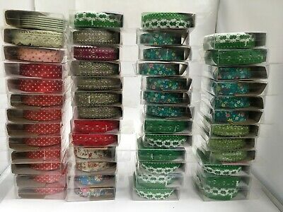 Bulk listing for box of 50 x green red floral lace fabric glitter washi tapes