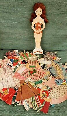 Vintage 1950's Paper Doll with mohair - Peggy has Real Curls doll , Whitman's