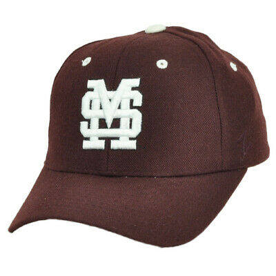 9ad2cd8556c774 NCAA Original Zephyr Mississippi State Bulldogs Fitted Size Burgundy Hat Cap