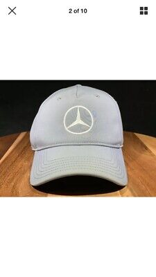 57edaa37 MERCEDES BENZ PUMA Golf Strapback Unisex Hat Cap Gray Embroidered ...