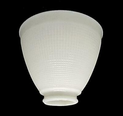 "Art Deco IES Reflector Lamp Shade 6"" White Milk Glass Floor Table Waffle"