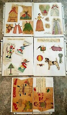 Group of original 1930s paper dolls ..Apple Mary, Tamba , Wahoo,  toy soldiers +