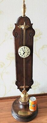 Warmink Saw Clock Gravity Floor Standing Vintage Oak Rare Zaagklok