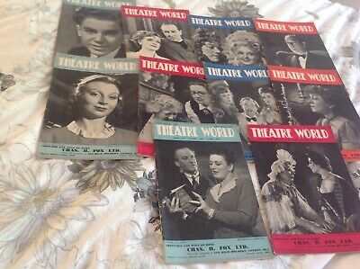 Magazine 10 issues of theatre world please see discription