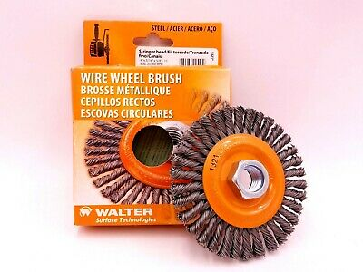 "Walter 13-K 404 Wire Wheel Brush 4""x3/16""x5/8"" Stainless Steel 20,000 RPM 13K404"