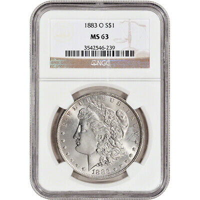 1883-O US Morgan Silver Dollar S1 - NGC MS63