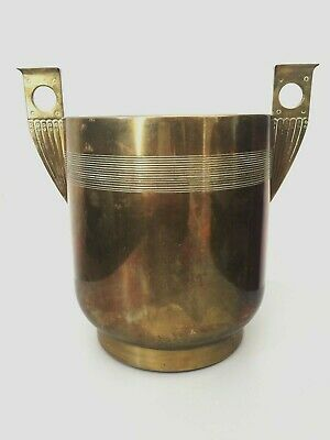 Antique champagne wine bucket cooler brass Art & crafts, style WMF, Art nouveau