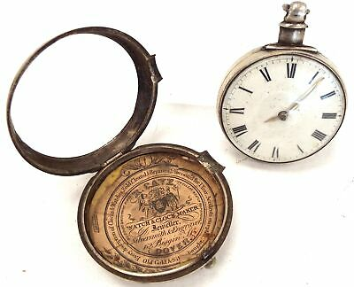 Antique James Whiting Silver Cased Mechanical Pocket Watch (+10 Papers) - D23