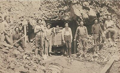 "1889 MONTANA, Miners, mining, 20""x12"" photo / print, Old West, antique decor"