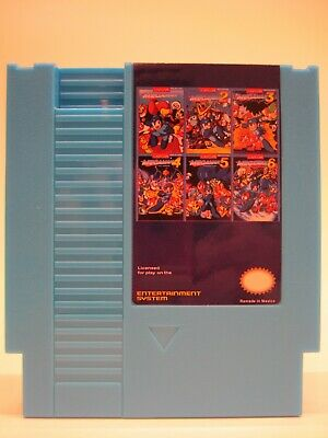 Mega Man Remix 6 in 1 Nintendo NES Classic Game - Complete Series, 73 Games in a