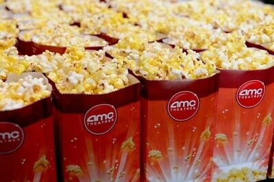 New! AMC Theater Voucher For 1 Large Popcorn- FAST e-Delivery