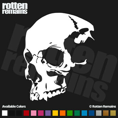 SKULL STRIP VINYL GRAPHIC DECAL // STICKER-3 SIZES /& 6 COLORS GLASS CAR WOOD,