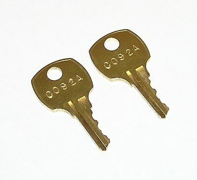 2 - C 92A C092A AMI Rowe Jukebox Replacement Cabinet Keys fit CompX National