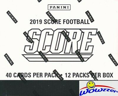2019 Score Football Factory Sealed JUMBO FAT 12 Pack Retail Box with 480 Cards!