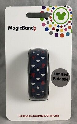 Disney Parks Mouse Icon Americana USA Red White Blue Stars Magic Band 2 WDW NEW