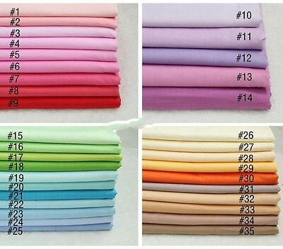 50cm*50CM Solid color 100%cotton fabric Quilting Quilt Clothes Bedding Sewing