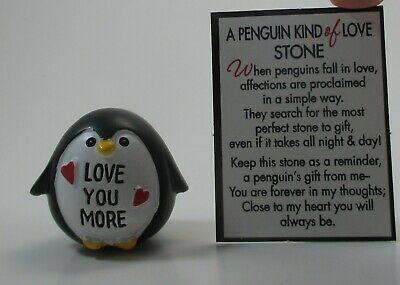 d Love you more A PENGUIN KIND OF LOVE Stone figurine Ganz miniature