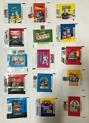 Wax Wrappers Vintage Trading Card Big Lot Of 15 Tv Shows