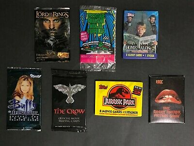 Trading Cards Full Unopened Lot Of 7 - Tv & Movies Packs - Buffy, The Crow Etc