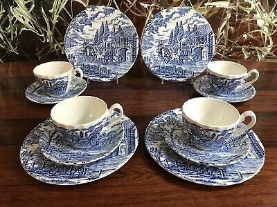 Myott England Royal Mail 12- Piece Coffee for 6 People in Blue