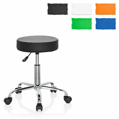 Rollable Task Chair height adjustable PU Leather Stool OPERATOR II hjh OFFICE