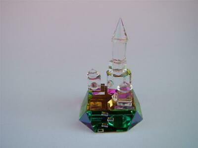 TOWER Crystal Cut Glass Coloured Ornament