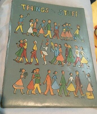 "Vintage 1950's Betty Betz Scrapbook Cover ""Things & Stuff"""