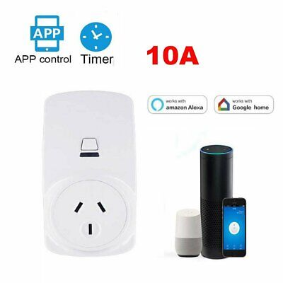 AU Plug Wireless Wifi Smart Power Socket Outlet Switch For ECHO ALEXA GOOGLE