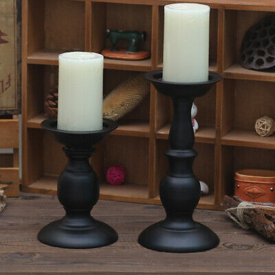Metal Carved Church Pillar Candle Holder Candlestick Wedding Home Decor 3 Size