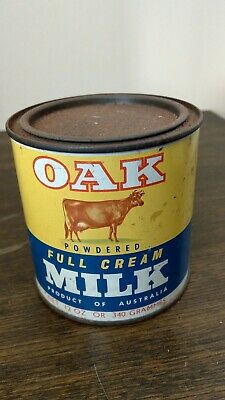 Vintage Australian Oak Powdered Milk 12 Oz Tin