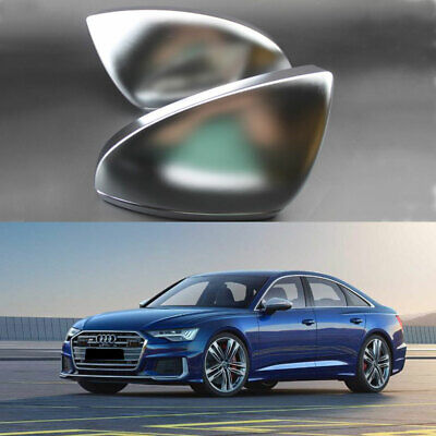 Matt Chrome Wing Mirror Covers Replacement For Audi A6 C8 A7 2019 on, A8 2018-19