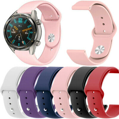 Silicone Sport Replacement Watch Band Wrist Strap Clasp For Huawei Watch GT 22mm