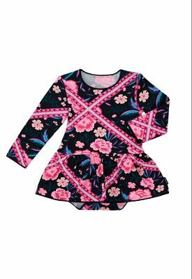Bonds Baby Long Sleeve Stretchies Balletsuit sizes 1 2 Tapestry Floral