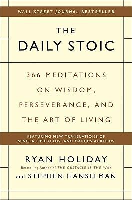 The Daily Stoic Hardcover by Ryan Holiday Motivational Management & Leadership