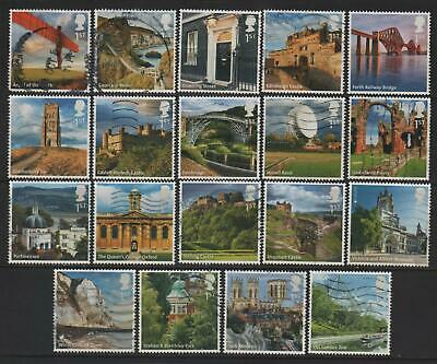 "LOT#360d - GB QEII 2011 & 2012; SELECTION of ""UK A-Z"" (1st & 2nd series) USED"