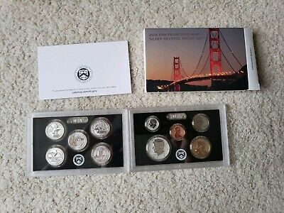 2018 10 coin US Mint San Francisco SILVER REVERSE PROOF SET with box & coa