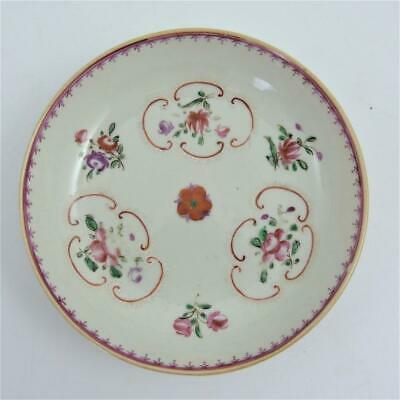 Chinese Famille Rose Porcelain Saucer, 18Th Century, Qianlong Period