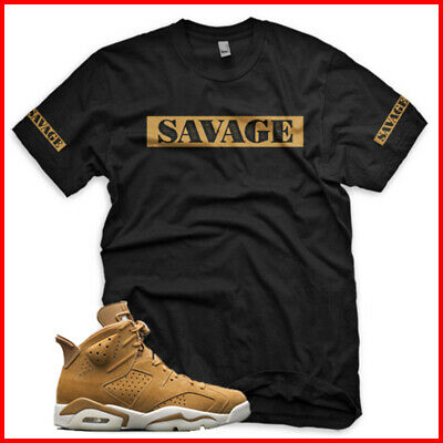 6a6f37b7e36 SAVAGE T Shirt For Jordan Golden Harvest 6 Matching Sneaker OG Wheat Full  Size