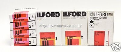 "700 Sheets of Ilford Ilfospeed RC 3.5"" x 5"" Enlarging Paper - 7 OUTDATED BOXES"