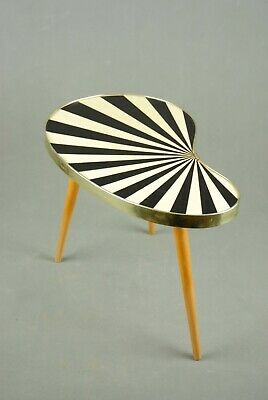 Small Mid Century TABLE Vintage Atomic Mother of Pearl Effect Tripod 1950s 60s