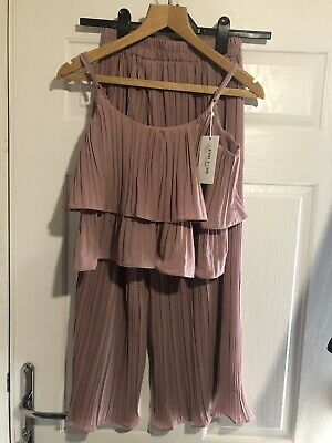 Emily & Me 2 Piece Set Trousers And Top Pink Size XS Bnwt