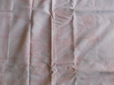 """Vintage Large Table Cloth Stamped For Painting 107"""" X 60"""" Roses Rosebuds & Trell"""