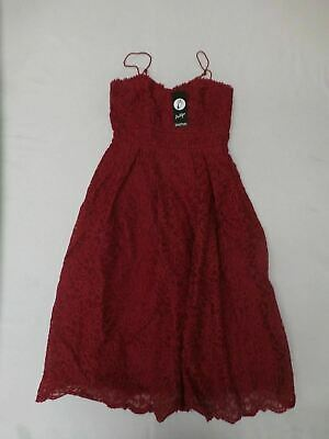 962e46bab2d1 boohoo Boutique Womens Abie Embroidered Strappy Skater Dress Berry GG8 UK:8  US:4