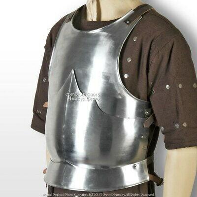 Medieval 15th Century Body Armor Breast Plate 18G Steel LARP Costume