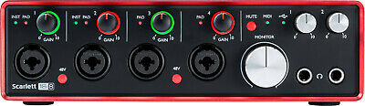NEW Focusrite Scarlett 18i8 (2nd Gen) 18x8 USB Audio Interface w/4 Preamplifiers