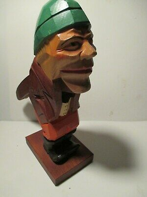 "Wood Hand Carved 8 1/2"" German Nut Cracker"