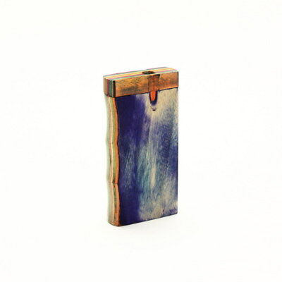 Colorful Quality Wood Handgrip Dugout & Cigarette Brass One Hitter Paper & Pouch
