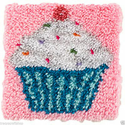 Cupcake Latch Hook Kit 30x30cm Caron Wonderart